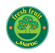 Hand and tree illustration for fresh fruit maroc