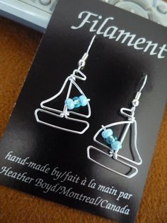 Sailboat+Earrings+by+HeatherBoydWire+on+Etsy,+$14.00