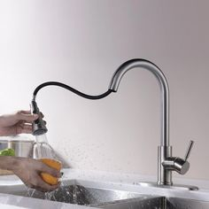 A kitchen faucet may look basic simple. Nonetheless, it plays a crucial role in the kitchen. We decided to evaluate the top 10 best kitchen faucets in Brushed Nickel Kitchen Faucet, Kitchen Faucets Pull Down, Kitchen Faucet Reviews, Best Kitchen Faucets, Best Faucet, Stainless Steel Kitchen, Bathroom Faucets, Kitchen And Bath, Summer Kitchen
