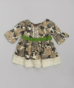 Another great find on #zulily! Cream Floral Peasant Dress - Infant, Toddler & Girls #zulilyfinds
