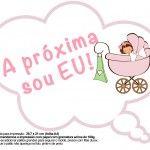 Plaquinhas Divertidas Chá de Bebê Menina 1