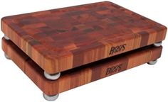 "John Boos 1.75"" American Cherry Footed Chopping Block 