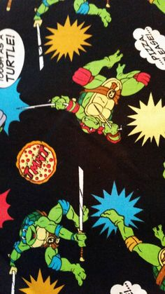 Check out this item in my Etsy shop https://www.etsy.com/listing/216831594/1-and-12-yard-ninja-turtles