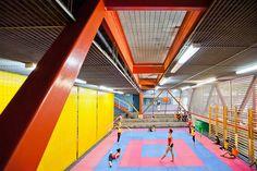 interior of vertical gym in caracas, venezuela photo by daniel schwartz courtesy of urban-think tank