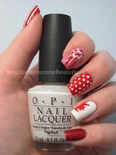 Cute Canada Day ideas! Nails by Kayla Shevonne