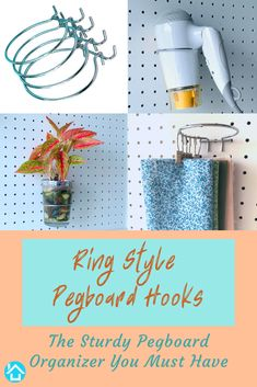 Ring Style Pegboard Hooks Assortment Set Of & Hole Pegboard Accessories - Chrome Finish Peg Board Hook Attachments for Art & Craft Supplies - Sturdy Pegboard Organizer Hooks for Storage Pegboard Craft Room, Pegboard Organization, Home Organization Hacks, Craft Rooms, Art Supplies Storage, Craft Supplies, Peg Board Hooks, Fashion Rings, Sewing Projects