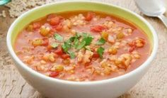 also scrumptious soup. IETrexIKingRobert and his wives made their own version of heartysoups to add to our family reporite for their covelles and danielles on down and this is positive also. Tomato and Barley Soup Tomato Rice Soup, Tomato Soup Recipes, Slow Cooker Cabbage Rolls, Cabbage Roll Soup, Slow Cooker Recipes, Cooking Recipes, Healthy Recipes, Healthy Soups, Diet Recipes