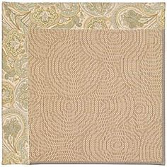 border natural fiber rug