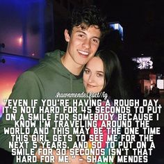 THIS QUOTE MAKES ME SO HAPPY also isn't this the wisdom teeth girl - Source: Shawn Mendes on his fans (NME) - @shawnmendes #shawn #mendes #shawnmendes #shawnmendesfan #shawnmendesedit #shawnmendesedits #shawnmendesfacts #celebrityfacts #facts #mendesarmy #illuminateworldtour #illuminate #shawnsignature