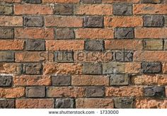 Check pattern in Flemish bond brickwork in an English village (Leicestershire) - stock photo