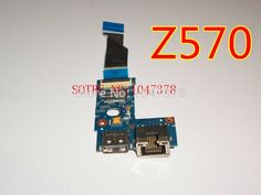 (29.99$)  Buy here - http://aikhd.worlditems.win/all/product.php?id=1980136457 - Wholesal board for Lenovo IdeaPad Z570 USB Port and Ethernet Board wCable 55.4PA03.021