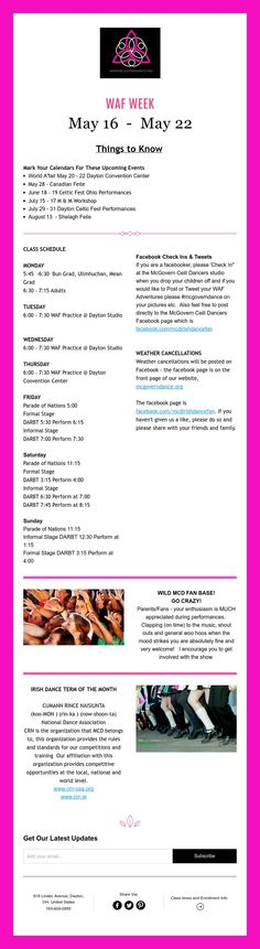 WAF WEEK  May 16 - May 22