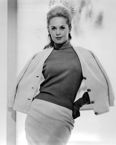 Tippi Hedren (1964) | Marnie - Alfred Hitchcock, costumes by Edith Head  #hitchcock