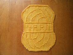 Yarn shaped dish cloth pattern!