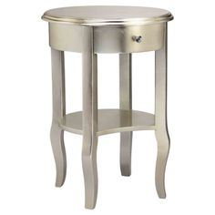 Andrews End Table in Silver