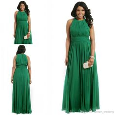 Emerald Green Plus Size Formal Evening Dress A Line Chiffon Long Special Occasion Dress Prom Party Gown Ball Gowns Evening, Women's Evening Dresses, Prom Dresses, Dress Prom, Bridesmaid Dresses Plus Size, Plus Size Dresses, Plus Size Outfits, Plus Size Formal, Buy Dress