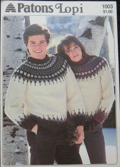 Vintage Patons Lopi Sweater Pattern by TheHowlingHag on Etsy, $6.95