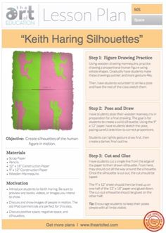 Keith Haring Silhouettes: Free Lesson Plan Download