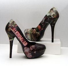 The Walking Dead Daryl Dixon Zombie High Heels  by custombykylee, $70.00