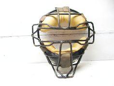 Retro Baseball Catchers Mask  Man Cave  Restaurant by Idugitup
