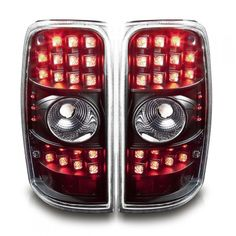 WinJet WJ20-0007-04 | 2002 Chevy Suburban Black LED Taillights for SUV/Truck/Crossover