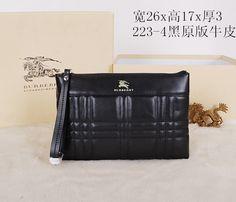 Burberry Clutch Bag 223 Black 26cm