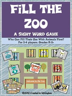 Who doesn't love the zoo? The animals and the fun! In this fun-sight word game, students race to see who can become Chief Zoo Curator by filling their zoo with all the animals first. ($)