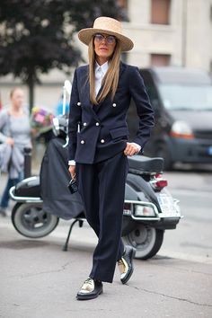 Street Style: Paris Fashion Week Spring 2014 - Anna Dello Russo in Celine