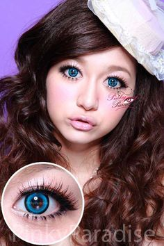 Vassen Sakura Candy Blue Circle Lenses (Colored Contacts)
