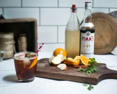 Pimm& Cocktail with Homemade Ginger Cordial Pimms Cocktail, Wine Cocktails, Drinks, Pimms O Clock, Mulled Wine, Quick Dinner Recipes, Preserves, Nom Nom, Drinking