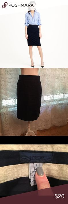 J Crew Navy Blue Linen Pencil Skirt J Crew Navy Blue Linen Pencil Skirt. Also new. Rarely worn. Please note this is a linen skirt, not wool...perfect for those lazy days of late summer and beginning crisp mornings of early fall. J. Crew Skirts Pencil