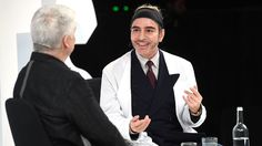 John Galliano in conversation with Tim Blanks on the VOICES stage | Source: Getty