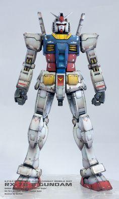 GUNDAM GUY: MG 1/100 RX-78-2 Gundam Ver 3.0 - Painted Build w/ LED
