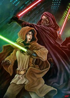 Kee shortly before meeting her long lost family, the Sith ambushed her but Kee managed to kill him. She arrived on the steps of the Jedi Temple in a mess and exhausted. Star Wars Film, Star Wars Rpg, Star Wars Jedi, Star Trek, Female Sith, Darth Bane, Light Vs Dark, Jedi Sith, Star Wars Images