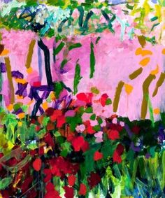 """Bill Scott Garden Fireflies 1993 acrylic on paper 38 ¼"""" x 31 ½"""" 1993 Bill Scott Flowers and Weeds oil on canvas 27"""" x 34"""" ..."""