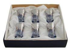 Carinissimo set da regalo di bicchierini decorati in argento con un elegante scatolina in raso ...