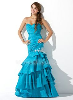 Prom Dresses - $176.99 - Mermaid Sweetheart Floor-Length Taffeta Prom Dress With Ruffle Beading Appliques Sequins (018004826) http://jenjenhouse.com/Mermaid-Sweetheart-Floor-Length-Taffeta-Prom-Dress-With-Ruffle-Beading-Appliques-018004826-g4826