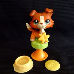 Littlest Pet Shop 1542 Collie Dog LPS Toy HASBRO 2007 rare