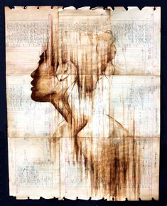 Using ledger paper dating back to the Michael Aaron Williams uses coffee and ink to create incredibly visceral portraits. Don't miss his deviantART Gallery! Coffee Drawing, Coffee Painting, Coffee Art, Colossal Art, Inspiration Art, Portraits, Portrait Paintings, Painting & Drawing, Amazing Art