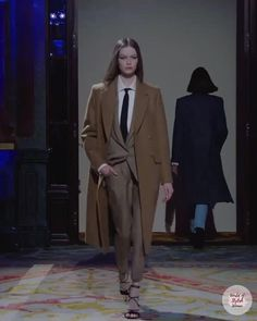 Beige Women's Suit. Fall Winter 2020 / 2021 Ready-to-Wear Collection. Runway Show by Redemption.
