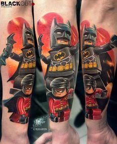 Lego Batman and Robin Tattoo