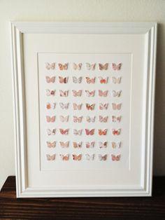 3D Butterfly Wall Art /// 14in x 18 in // by TinyGoldenArrows, $50.00