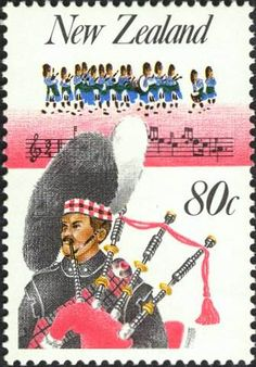 Bagpipes on Postage Stamps ~ A Virtual Collection ~ Stamp No. 34
