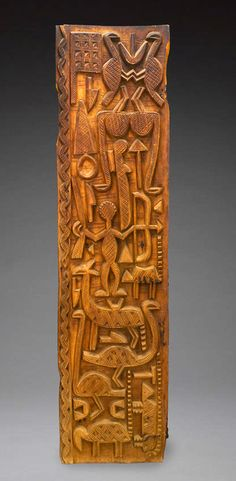 Africa | Door from the Nupe people of Nigeria; possibly carved by Sakiwa the Younger | Wood and metal