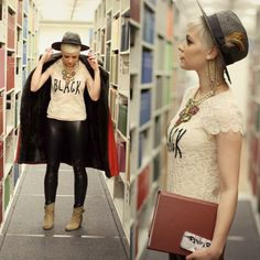 tshirt, lace tee, disco pants http://lookbook.nu/look/4732565-The-Stacks