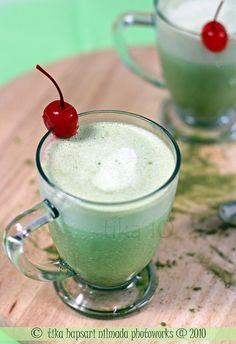 homemade green tea smoothies