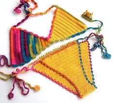 Crochet Bikini Top Bikini Bottom Summer Fashion 2015 Swimwear Bikini Set Crochet Bikini Two Piece Halter Bikini Boho Hippie Top Festival