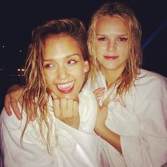 Jessica Alba and Kelly Sawyer survived midnight snorkeling during their vacation in St. Barts.