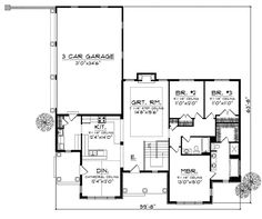 First Floor Plan of House Plan 73048