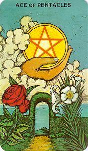 Ace of Pentacles - Morgan-Greer Tarot.